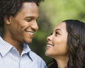 Smiling Couple Portrait.