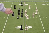 Chess Football With Defensive Coach