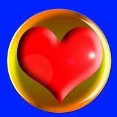 Постер, плакат: Сердце значок