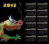 2012 calendar and dragon