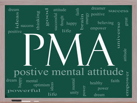 image of pma  - PMA Word Cloud Concept on a Chalkboard with great terms such as Positive Mental Attitude empower faith dream brain and more - JPG