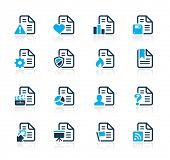 Documents Icons - 2 // Azure Series