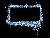 Blue Bubbles Rectangular Frame