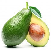 pic of exotic_food  - Avocado isolated on a white background - JPG