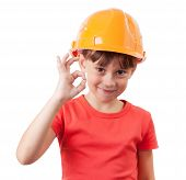 Girl In A Protective Helmet