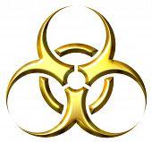3D Golden Biohazard Symbol