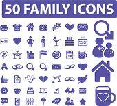 50 Familie Symbole Set, Vektor