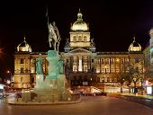National Museum on Wenceslas Square in Prague. Czech Republic.