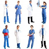 Collection of full length portraits of doctors