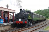 BODIAM, ENGLAND - AUGUST 20: USA 0-6-0T class steam locomotive on the Kent and East Sussex Railway o