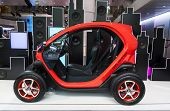 PARIS - JUNE 23: The new electric car Renault Twizy on display at l'Atelier Renault on the Champs-El