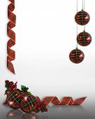 Christmas Ornaments Border Design