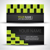 Modern business card - green rectangles