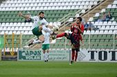 KAPOSVAR, HUNGARY - SEPTEMBER 29: Pedro Sass (in white) in action at a Hungarian National Championsh