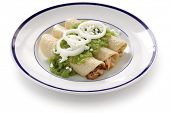 stock photo of enchiladas  - chicken enchiladas verde - JPG