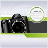 Fondo de vector abstractos con cámara digital para texto