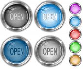 Open. Raster internet buttons. Vector version is in portfolio.