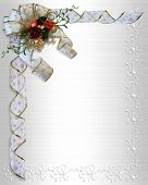 Christmas Ribbons White Satin