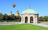 image of munich residence  - The scenery at the Residenz and Odeonsplatz in Munich - JPG