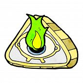 image of all seeing eye  - cartoon all seeing eye - JPG