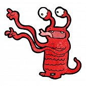 cartoon spooky alien