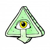 foto of all seeing eye  - cartoon all seeing eye cartoon - JPG