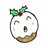 cartoon xmas pudding