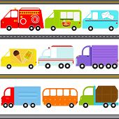 stock photo of ice-cream truck  - A set of cute Vector Icons  - JPG