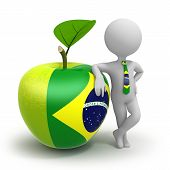 Apple With Brasilian Flag And Businessman