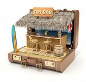 stock photo of tiki  - Tiki bar in the case  - JPG