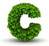 Leaves font letter c lowercase