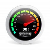 picture of speedometer  - 2014 year Calendar speedometer car - JPG