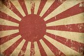 stock photo of japanese flag  - Illustration of an rusty grunge aged Japanese Empireal Navy flag - JPG