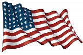 stock photo of iwo  - Illustration of a waving US 48 star flag of the period 1912 - JPG