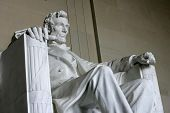 WASHINGTON, D.C. - JULY 29: The statue of Abraham Lincoln is shown at the Lincoln Memorial on July 2