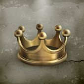 Gold crown old style vector