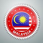 Malayan flag label