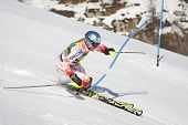 VAL D'ISERE FRANCE. 12-12-2010. PALANDER Kalle FIN attacks a control gate during the FIS alpine skii