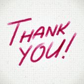 Thank you hand draw message vector illustration eps 10