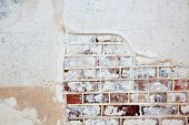 brick and plaster wall