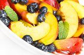 Fruit salad. Blueberry Nectarine salad