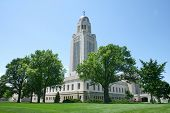 pic of nebraska  - The Nebraska State Capitol Building in Lincoln - JPG
