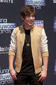 LOS ANGELES - AUG 1:  Austin Mahone arrives at the 2013 Young Hollywood Awards at the Broad Stage on