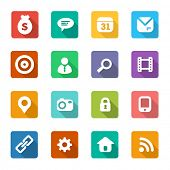 set of trendy flat icons