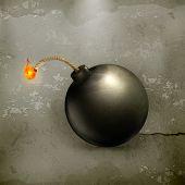 Vector de estilo antiguo de bomba