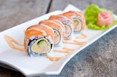 Salmon Sashimi Roll