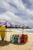 Surfboards On Surin Beach