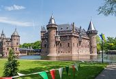 Castle De Haar, The Netherlands, surrounded by a moat
