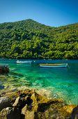 Zwei Boote In Mljet Kroatien