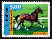 Postage Stamp France 1998 French Trotter, Horse
